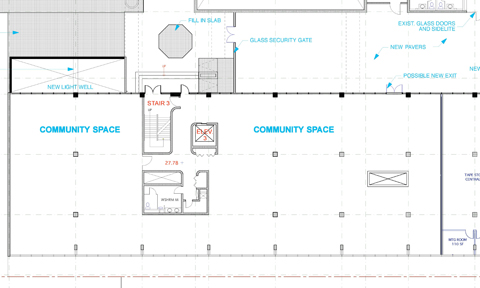 CBC Vancouver cultural amenity space - early floorplan
