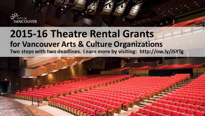 Culture - Facebook - Theatre Rental Grants 2015 - Two deadlines